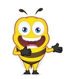 在欢迎姿态的蜂 免版税图库摄影