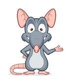 在欢迎姿态的鼠 免版税库存图片
