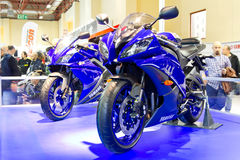 欧亚大陆Moto自行车商展2013年 库存图片
