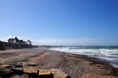 在欧德雷塞勒附近的海滩在法国 库存图片