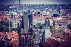在欧洲中间的美丽的城市布拉格 库存照片