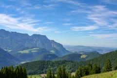在欧洲阿尔卑斯的壮观的看法 库存照片