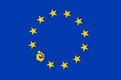在欧盟的抗议 向量例证