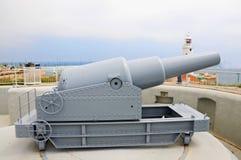 在欧罗巴点的大炮 免版税图库摄影