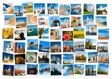 在欧洲拼贴画的旅行 库存照片