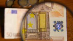 在欧洲附注的放大镜 股票录像