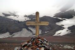 在欺骗岛,南极洲的坟墓 库存图片