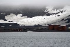在欺骗岛,南极洲的老捕鲸阵营 库存图片