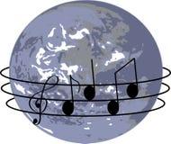 在歌曲世界范围内 免版税库存图片