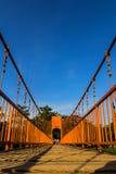 在歌曲河, vang vieng,老挝的桥梁 库存照片