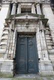 在正义布鲁塞尔,比利时宫殿的门  免版税图库摄影