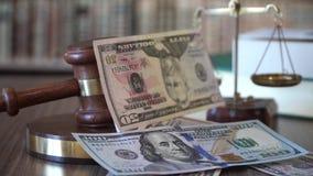 在正义法院的贿赂 美元落 影视素材