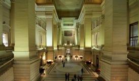 在正义palais里面的布鲁塞尔de 免版税库存图片