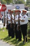 在正常小山公墓的阵亡将士纪念日庆祝 库存照片
