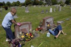 在正常小山公墓的阵亡将士纪念日庆祝 免版税库存照片