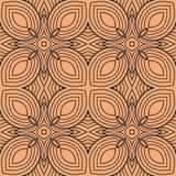 在正方形无缝的样式背景例证的橙色叶子 皇族释放例证