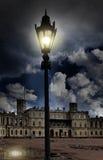 在正方形的灯笼在宫殿前面 Gatchina 圣彼德堡 俄国 库存照片