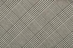 在正方形的黑白houndstooth样式 库存照片