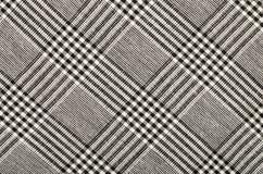 在正方形的黑白houndstooth样式 免版税库存照片