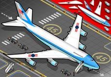 在正面图的等量空军一号 免版税库存照片