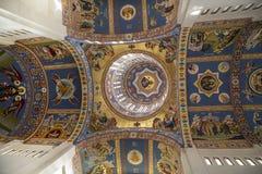 在正统大教堂的天花板绘画在Drobeta Turnu-Severin 免版税库存图片