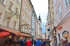 在步行在萨尔茨堡 库存图片