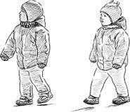 在步行的孩子 库存图片