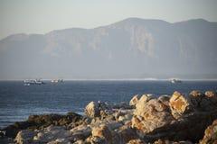 在步行者海湾的拖网渔船 免版税库存照片