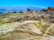 在死亡谷国家公园,加利福尼亚, U的Zabriskie点 S A 免版税库存图片