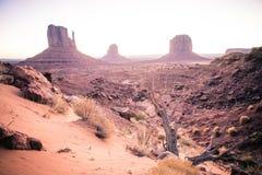 在死亡谷沙漠的日出  免版税库存图片