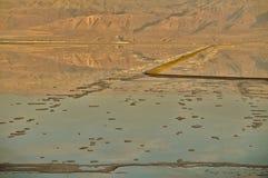 在死海的日落 免版税图库摄影