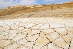 在死海,以色列附近的沙漠 图库摄影