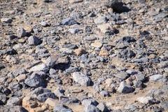 在死的谷的岩石 免版税库存照片