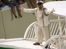 在每年狂欢节期间的惊人的狂妄剧在里约热内卢 库存图片