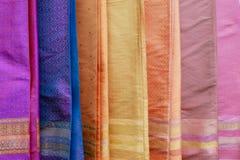 在每年Lumpini文化节日的五颜六色的衣裳 免版税库存图片