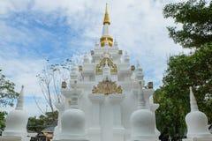 在每年Lumpini文化节日的寺庙缩样 免版税库存照片