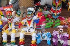 在每年Lumpini文化节日的独特的鬼魂面具 库存图片
