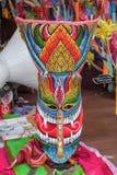 在每年Lumpini文化节日的独特的鬼魂面具 免版税库存图片