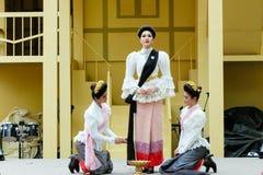 在每年Lumpini文化节日的秀丽表现 库存图片