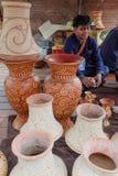 在每年Lumpini文化节日的Craftman 免版税库存图片