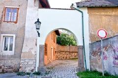 在比尔森,捷克附近的罗基察尼镇 免版税库存图片