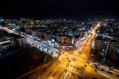 在比尔・克林顿大道和乔治W布什Bd之间的交叉路在Prishtina,科索沃 库存图片