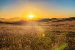 在比格霍恩山的日出 图库摄影