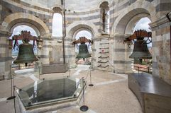 在比萨,意大利塔的响铃  图库摄影