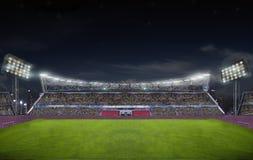 在比赛前的体育场 库存图片
