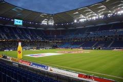 在比赛汉堡期间的HSV竞技场与法兰克福 库存照片