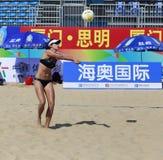在比赛的Linmeitong 库存照片