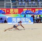 在比赛的Linyiqi 图库摄影