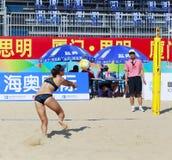 在比赛的Liujing 库存图片