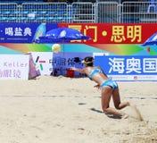 在比赛的Zhangna 库存照片